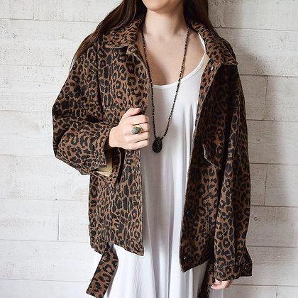 mara select veste oversize imprimé léopard