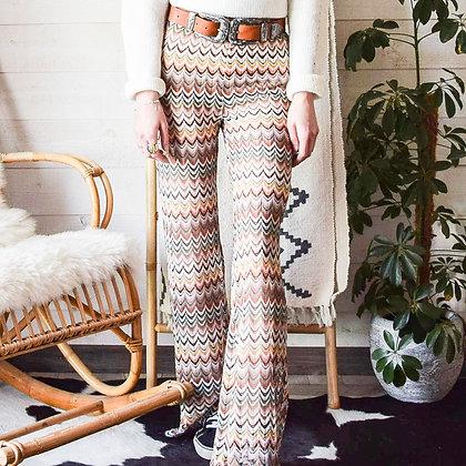 mara select pantalon flare crochet