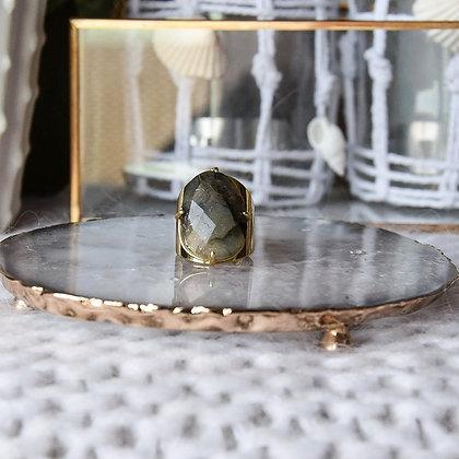 mara select bague dorée avec pierre