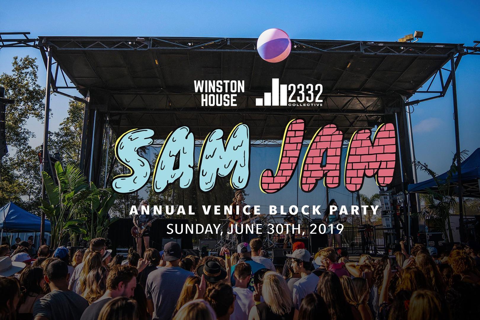 SAMJAM - ANNUAL BLOCK PARTY PROMO FOR JUNE 30TH!
