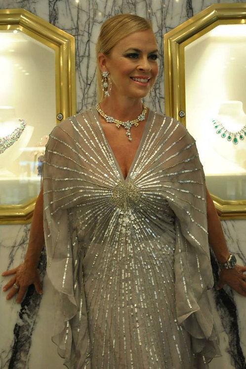 Sparkly Silver Goddess Tunic
