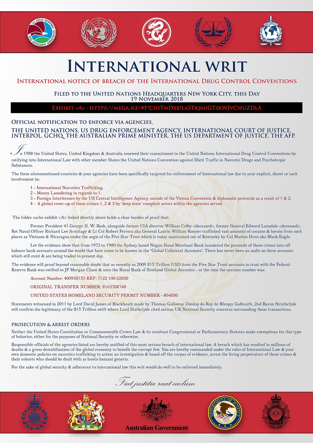 The International Drug Control Conventio