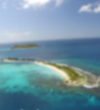 Sandy island, drone , Croisière Grenadines