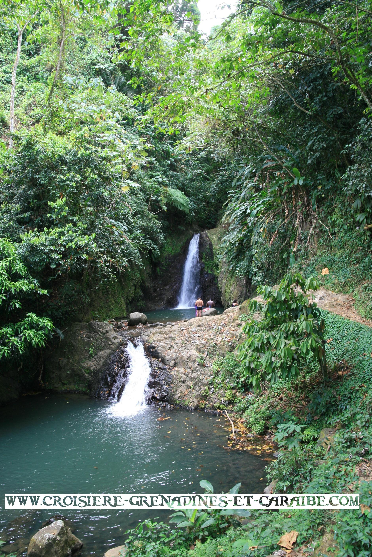 seven sisters fall, cascade , grenade, croisiere Grenadines