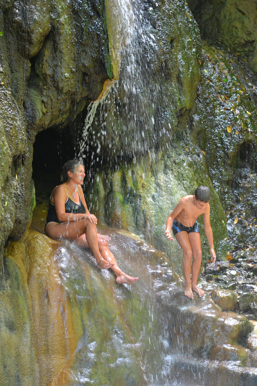 cascade eau chaude, thalasso , voyage de rêve, Ste Lucie