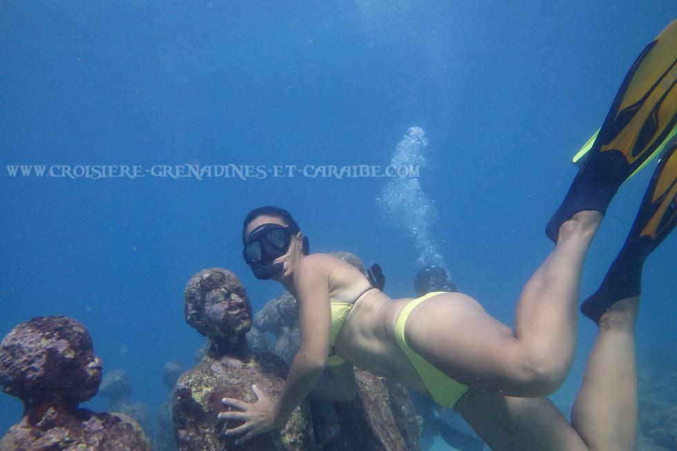 Jason de Caires Taylor , croisiere Grenadines, plongée sous marine