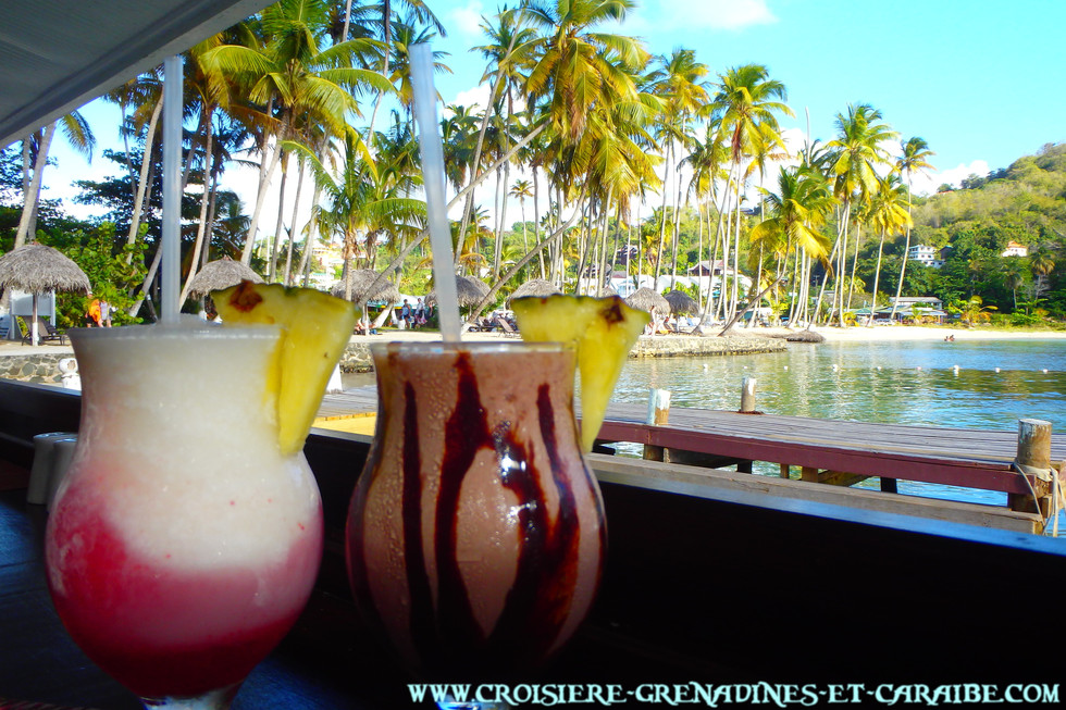 Cocktail, Marigot Bay, Ste Lucie, Ste Lucia, doolittle , croisiere Grenadines