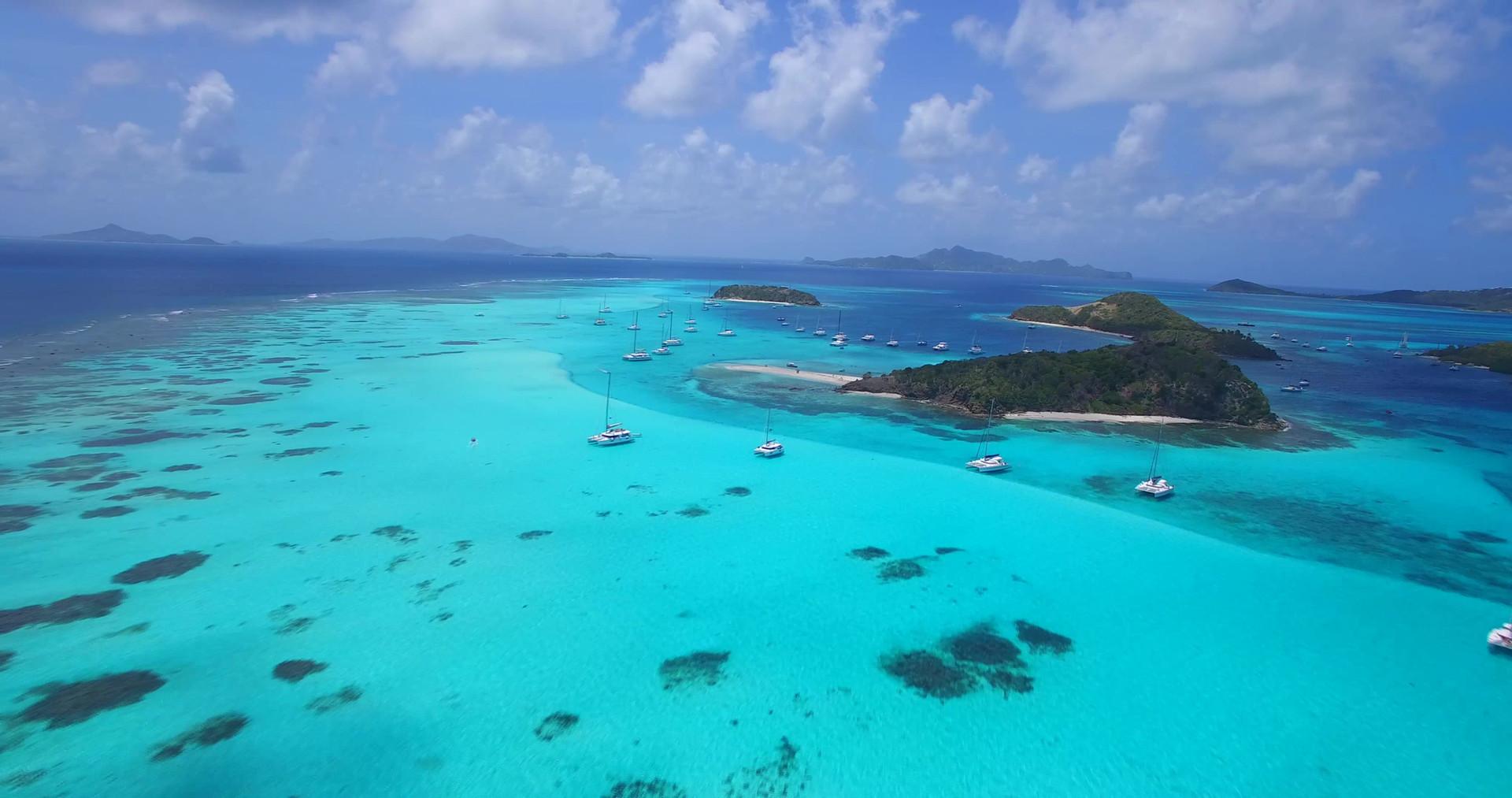 Catamaran grenadines, Tobago cays