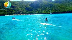 Paddle wake, Croisiere Grenadines