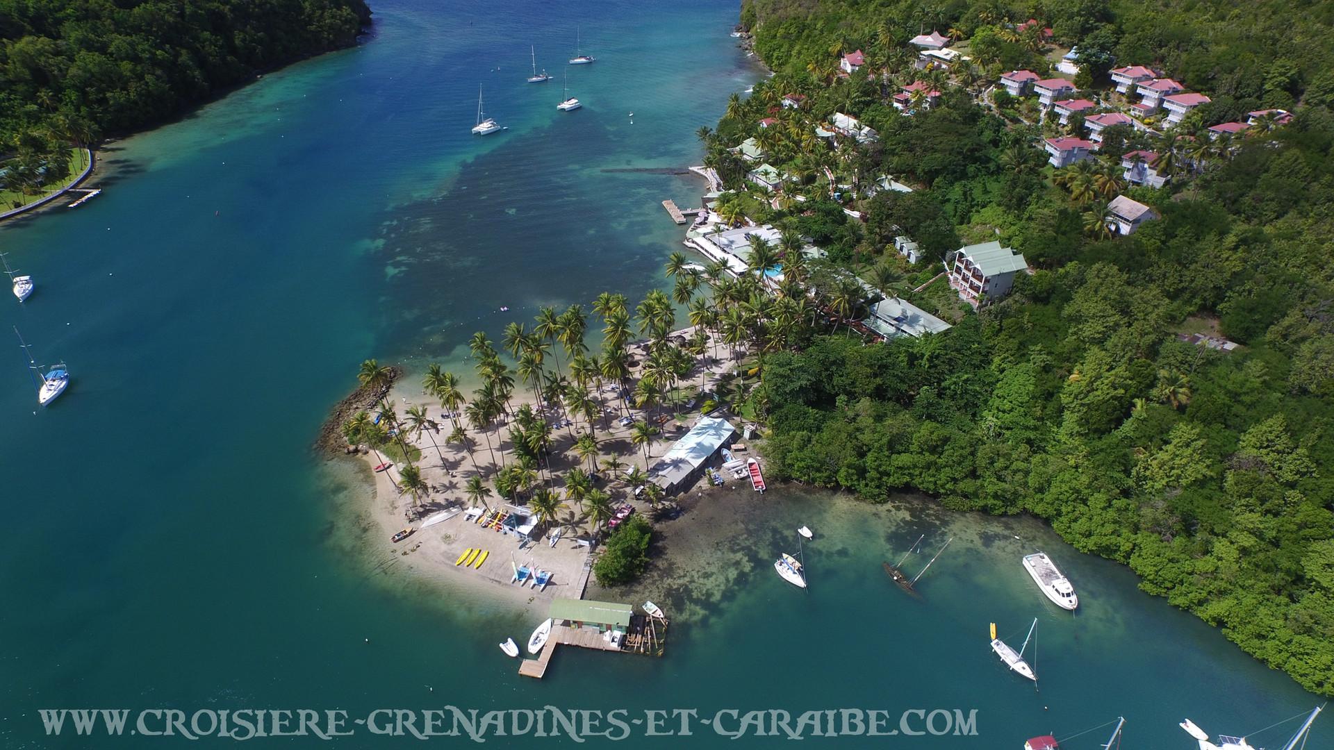 Marigot bay, drone ste lucie, ste lucie, crosiere Grenadines