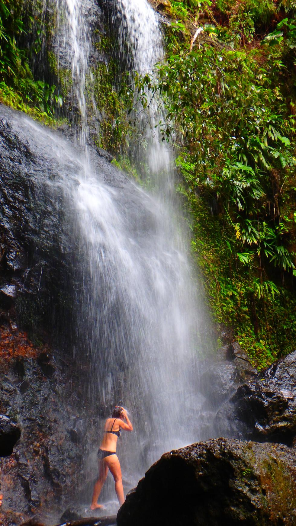 Guadeloupe waterfall, Guadeloupe cruise.