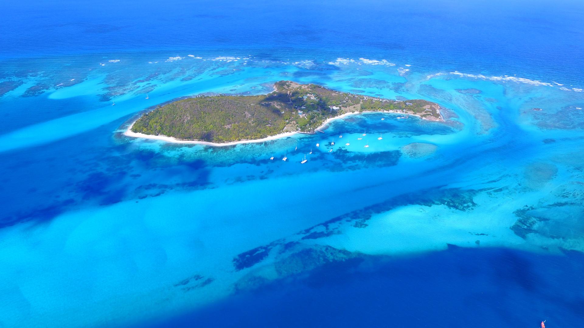 Petit Saint Vincent, PSV, Drone grenadines, croisiere Grenadines.