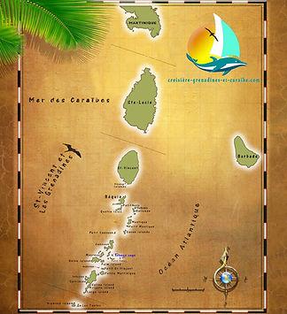 Croisiere grenadines, parcours Grenadines, iles Grenadines