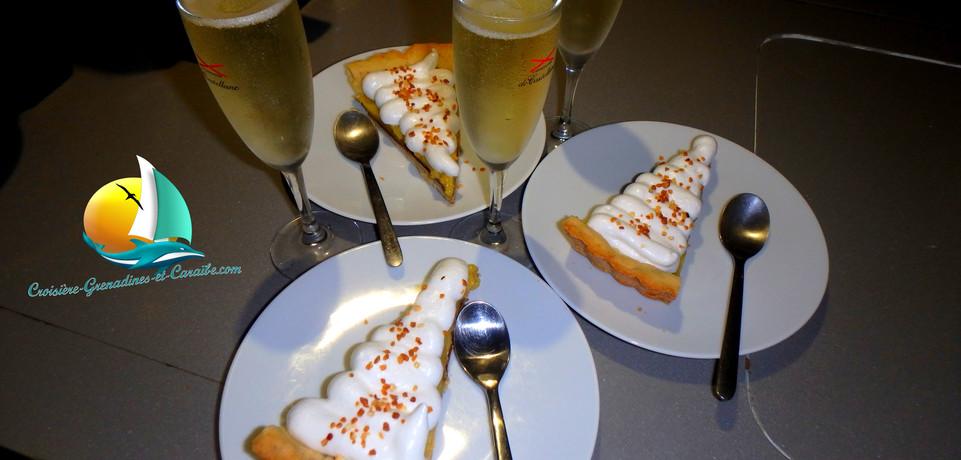 champagne et tarte au citron