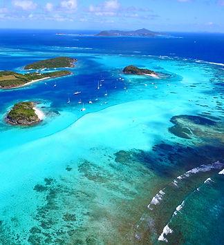 Tobago cays, drone, croisière grenadines