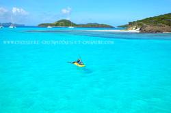 kayak mer, Mer turquoise, Grenadines