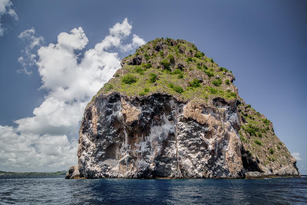 Le rocher du Diamant, croisiere Martinique