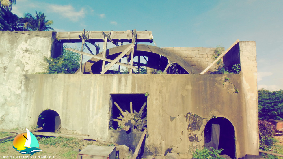 roue a aube, distillerie river Antoine, rhum Grenade, rhum agricole, rhum blanc, croisiere Grenadines