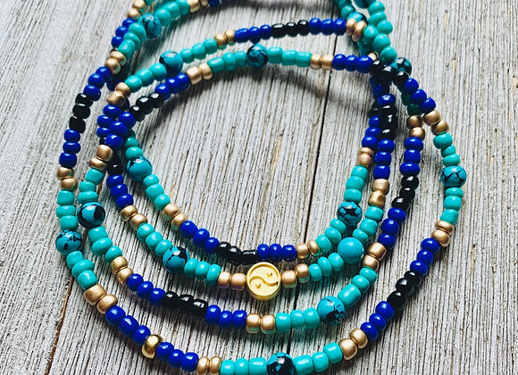 Turquoise Waist Beads - Egyptian Colorway