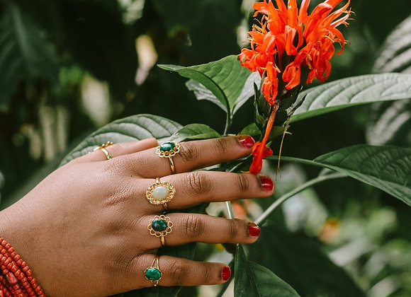 Malachite & Aventurine Rings