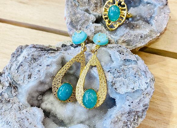 Crystal Teardrop Earrings & Rings
