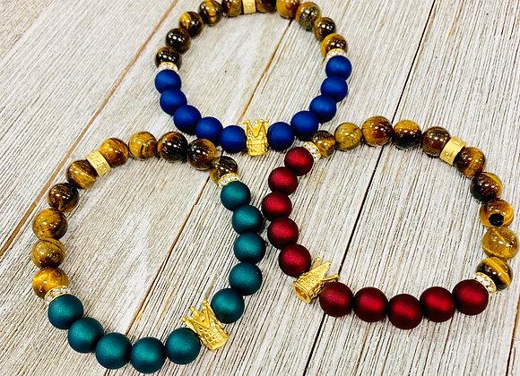 Royalty Bracelets — Matte Jewel Tone
