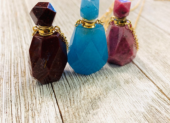 Crystal Oil Pendants - Large Geometric