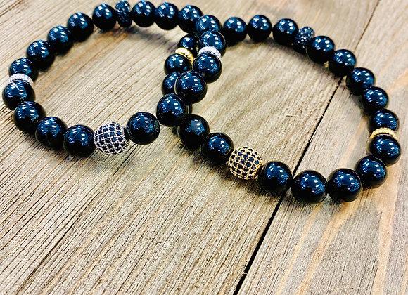 Black Jasper Crystal Bracelets