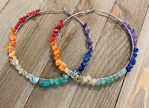 Rainbow Chakra Hoops