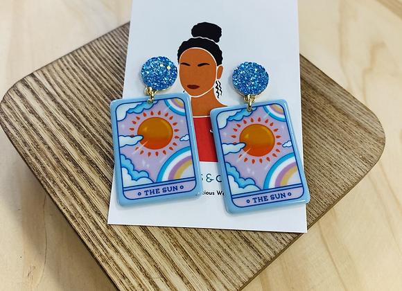 The Sun Illustration Tarot Earrings