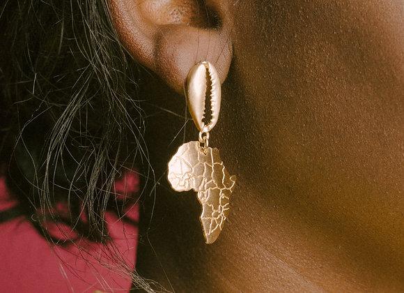 Cowri Motherland Earring