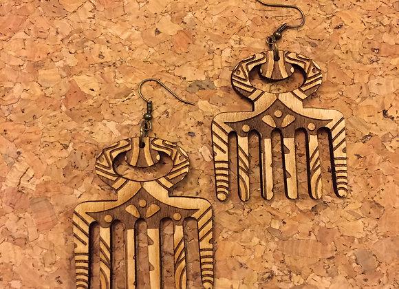 The Duafe Earring - Tribal Etching