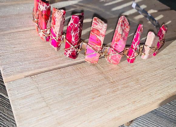 Pink Imperial Jasper Crown