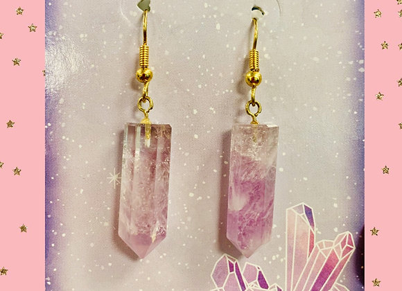 Amethyst Reiki Stone Earrings