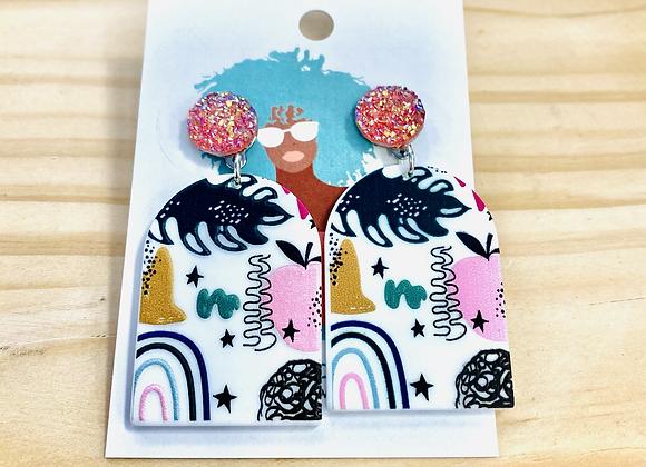 The Tropical Rainbow Drop Earrings
