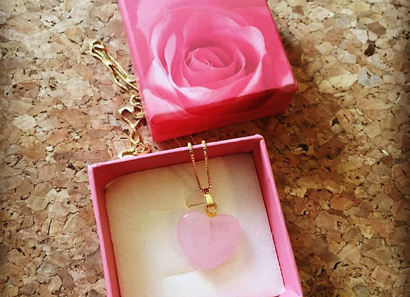 "The ""Love Stoned"" Rose Quartz Necklace"