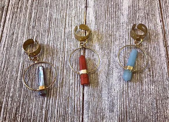 Loc & Ear Cuffs — Reiki Stone Set