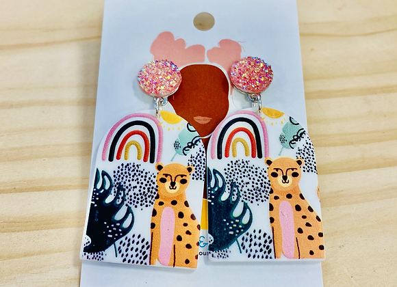 The Cheetah Drop Earrings
