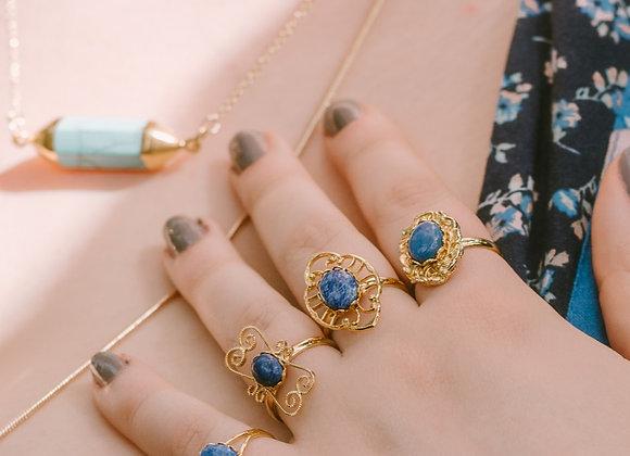 Gold & Lapis Lazuli Rings