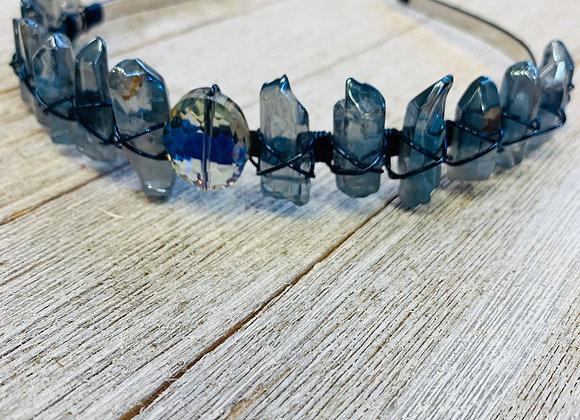 Blue Aura Quartz Crown