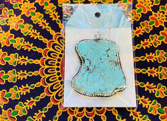 Extra Large Turquoise Pendant