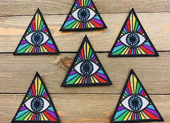 Psychedelic Evil Eye Patch