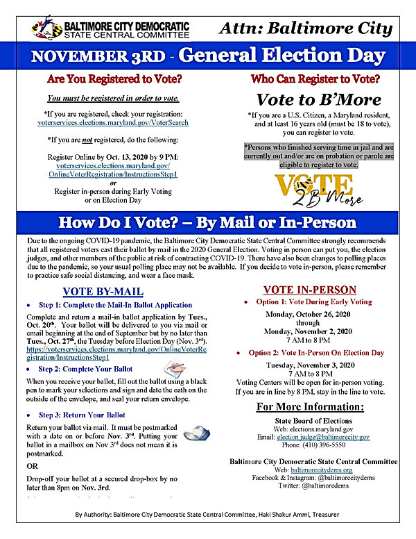 General Election - Voter Education Flyer