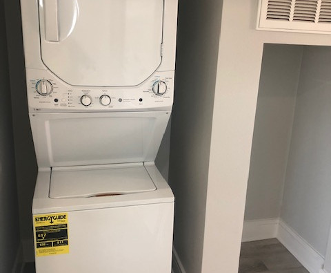 Washer and Dryer in all One Bedrooms