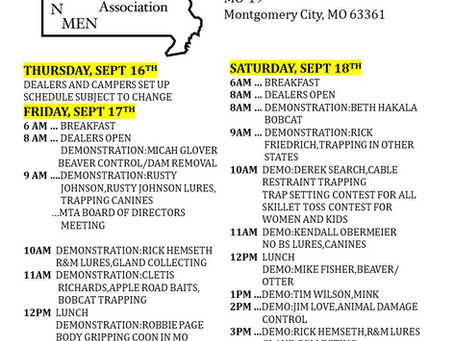 2021 MTA FALL RENDEZVOUS SEPTEMBER 17th-19th