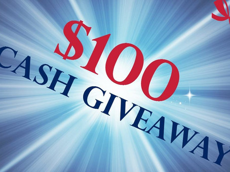 Enter To Win $100 Cash