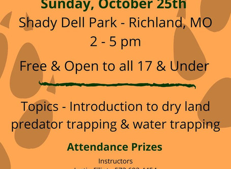 Trapping Clinic, Richland, MO