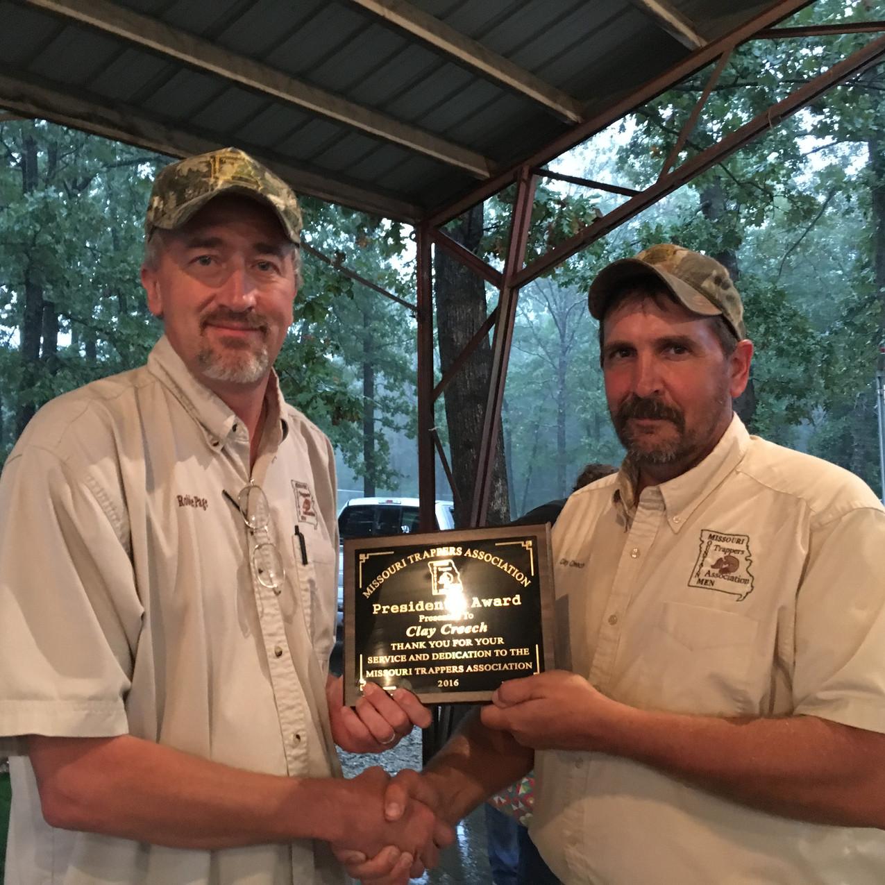 Clay Creech, President's Award