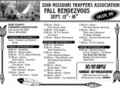 2018 MTA Fall Rendezvous Schedule of Events