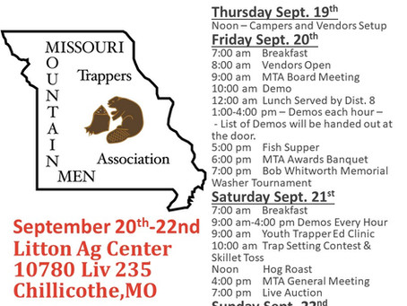 2019 Missouri Trappers Association Fall Rendezvous